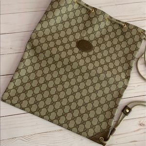 💯 Gucci Drawstring Sling Backpack